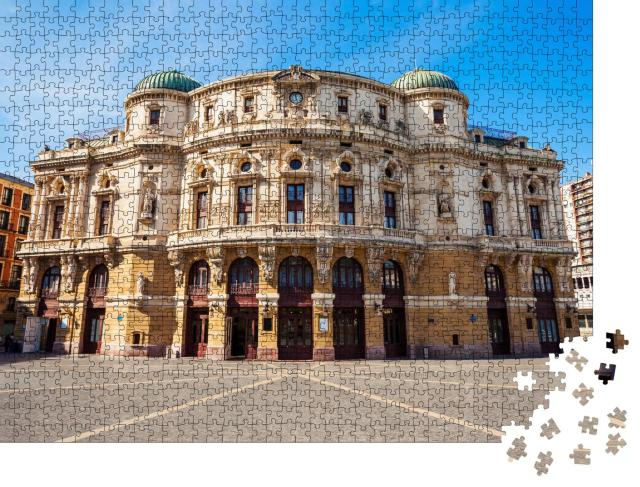 "Puzzle 1000 Teile ""Arriaga Theater oder Arriaga teatro, Bilbao, Spanien"""