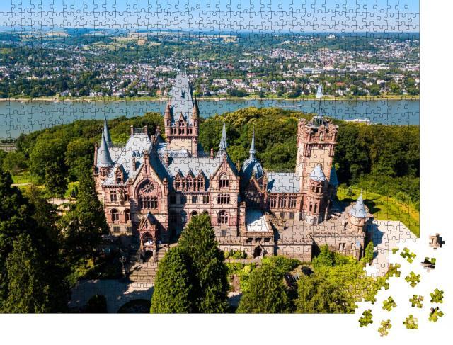 """Puzzle 1000 Teile """"Schloss Drachenburg nahe Bonn in Königswinter am Rhein, Deutschland"""""""