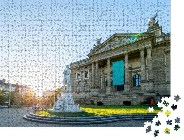 """Puzzle 1000 Teile """"Das Theater in Wiesbaden"""""""