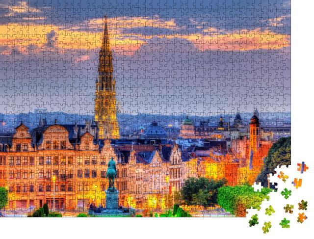 """Puzzle 1000 Teile """"Brüssel am Abend"""""""