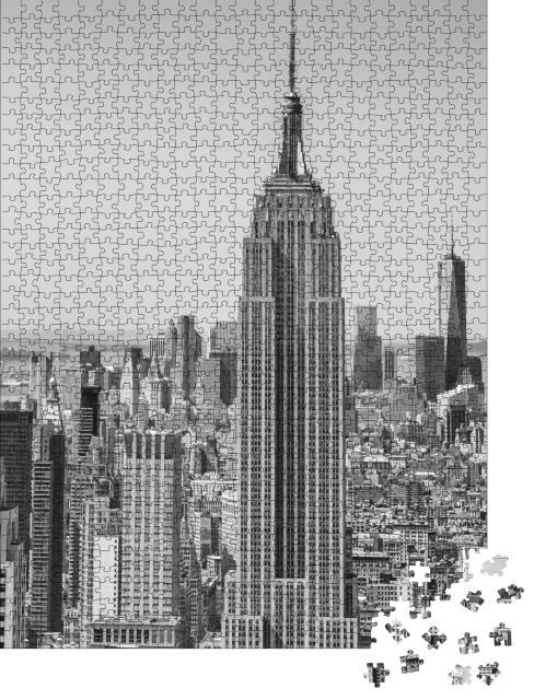 """Puzzle 1000 Teile """"Skyline von New York City aus der Luft"""""""
