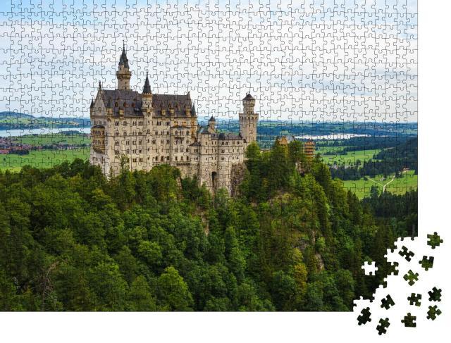 """Puzzle 1000 Teile """"Schloss Neuschwanstein im Schwangau"""""""