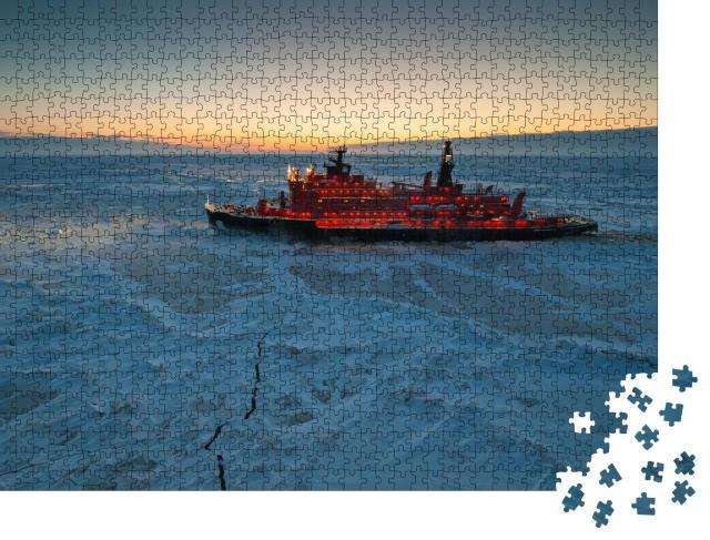 """Puzzle 1000 Teile """"Eisbrecher in der Arktis"""""""