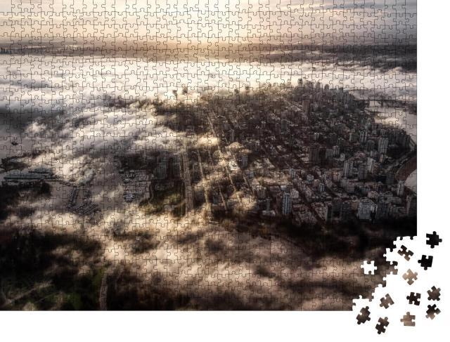 """Puzzle 1000 Teile """"Stadtzentrum von Vancouver, Kanada, Luftaufnahme der modernen Großstadt"""""""
