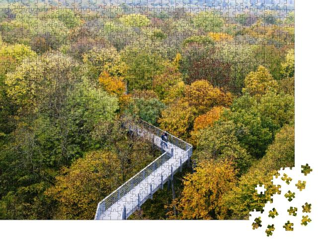 """Puzzle 1000 Teile """"Baumkronenpfad im Nationalpark Hainich, Thüringen"""""""