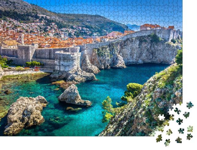 """Puzzle 1000 Teile """"Luftaufnahme der Altstadt von Dubrovnik"""""""
