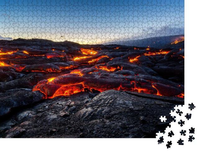 """Puzzle 1000 Teile """"Kalapana-Lavastrom auf Hawaii"""""""