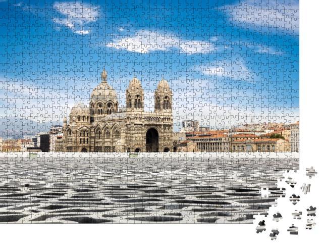 """Puzzle 1000 Teile """"Cathedral de la Major, Wahrzeichen von Marseille, Frankreich"""""""