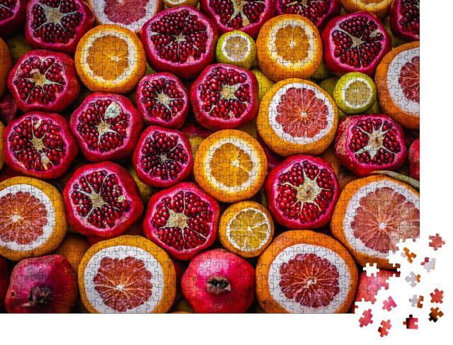 """Puzzle 1000 Teile """"Frisches Obst: Orange und Granatapfel"""""""