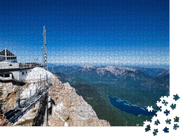 """Puzzle 1000 Teile """"Bergpanorama mit Eibsee, Garmisch-Partenkirchen"""""""