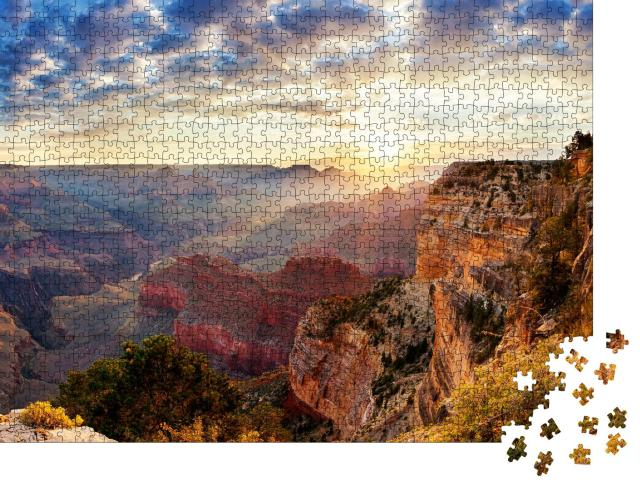 """Puzzle 1000 Teile """"Sonnenaufgang am Grand Canyon"""""""
