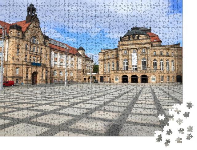 """Puzzle 1000 Teile """"Kunsthalle und Opernahaus, Chemnitz, Deutschland"""""""