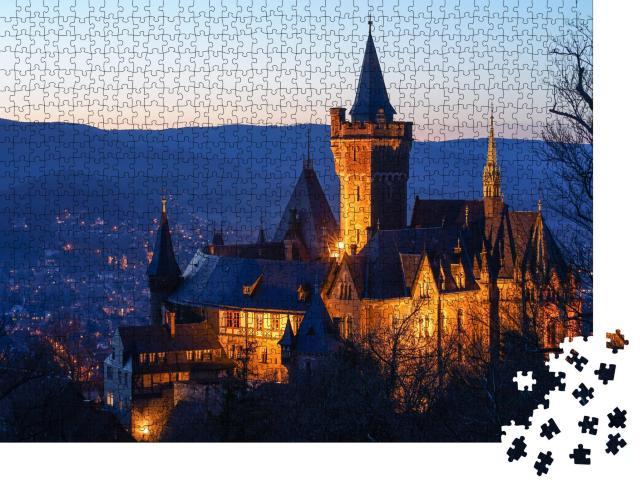 """Puzzle 1000 Teile """"Schloss Wernigerode, Deutschland"""""""