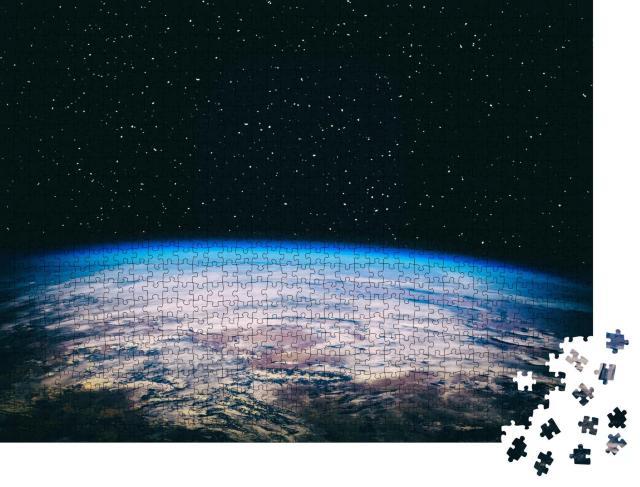 """Puzzle 1000 Teile """"Blick auf die Erde aus dem Kosmos"""""""