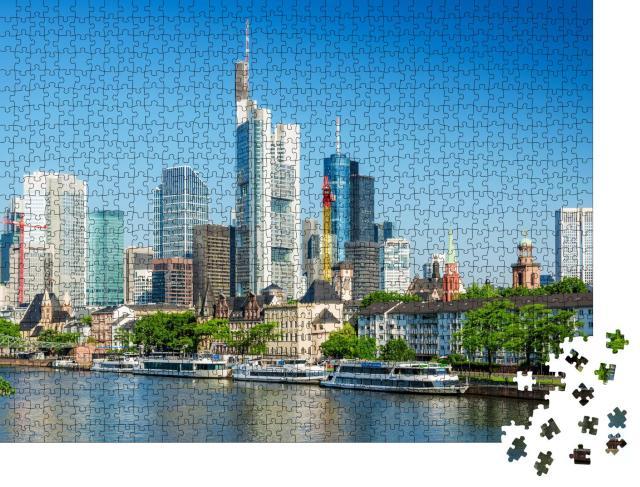 """Puzzle 1000 Teile """"Blick auf die Skyline von Frankfurt am Main, Hessen, Deutschland"""""""