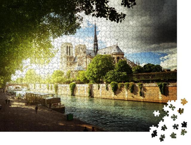 """Puzzle 1000 Teile """"Seine und Notre Dame de Paris, Frankreich"""""""