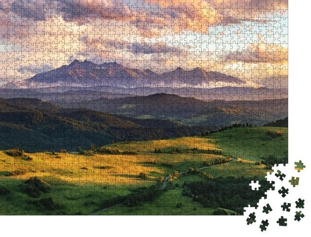 """Puzzle 1000 Teile """"Sommerliche Berglandschaft in der Slowakei"""""""