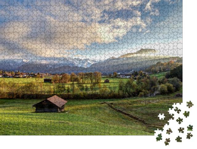 """Puzzle 1000 Teile """"Blick auf Oberstdorf in den Alpen, Deutschland"""""""