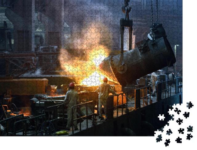 """Puzzle 1000 Teile """"Werkstatt eines Eisen- und Stahlwerks"""""""