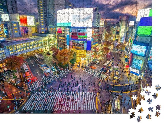 "Puzzle 1000 Teile ""Berühmte Shibuya-Kreuzung in Tokio, Japan"""