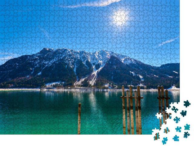"""Puzzle 1000 Teile """"Pier amAchensee in den österreichischen Alpen"""""""