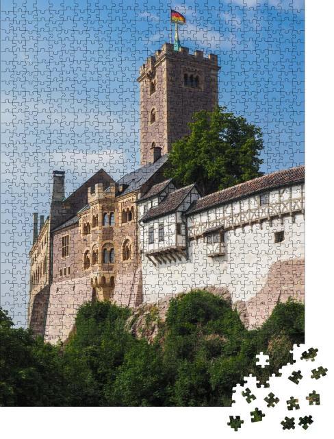 """Puzzle 1000 Teile """"Burg Wartburg in der Nähe von Eisenach, Deutschland"""""""