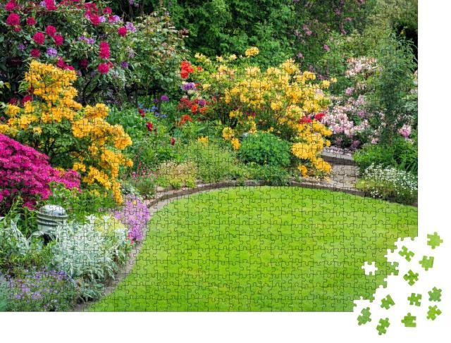 """Puzzle 1000 Teile """"Schöner Garten im Frühling"""""""