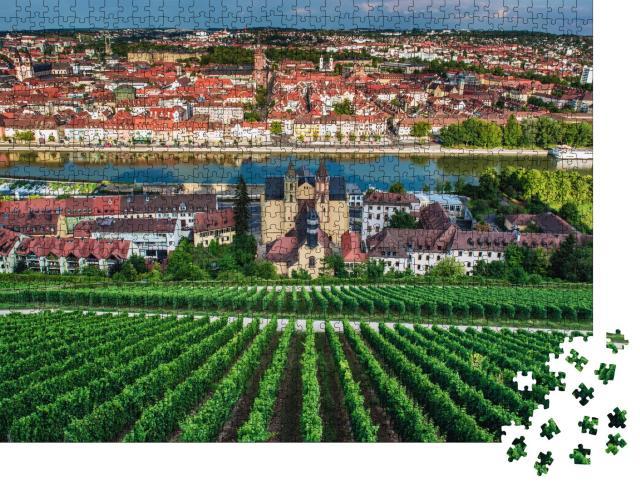 """Puzzle 1000 Teile """"Blick von der Burg Marienberg auf die Stadt Würzburg"""""""