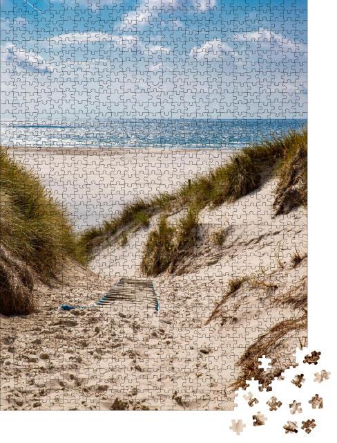 """Puzzle 1000 Teile """"Weg zum Strand in Amrum, Deutschland"""""""