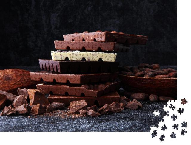 """Puzzle 1000 Teile """"Ein Turm aus köstlicher Schokolade"""""""