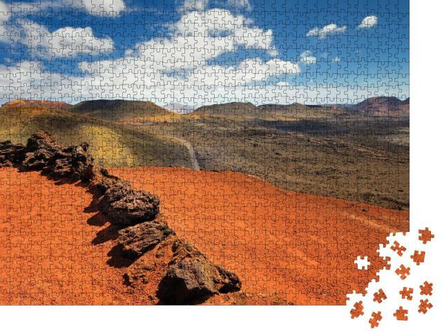 """Puzzle 1000 Teile """"Berge des Feuers, Timanfaya-Nationalpark auf der Insel Lanzarote"""""""