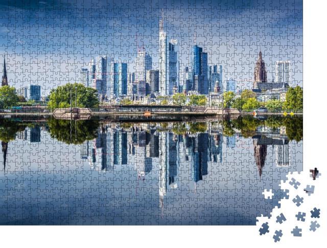 """Puzzle 1000 Teile """"Skyline von Frankfurt am Main, Deutschland"""""""