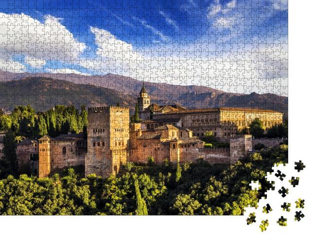 """Puzzle 1000 Teile """"Alte arabische Festung von Alhambra, Granada, Spanien"""""""