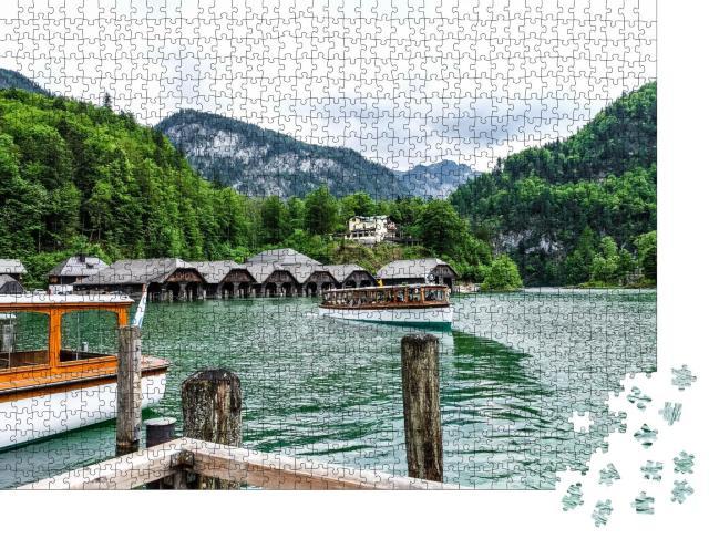 """Puzzle 1000 Teile """"Der Königssee, smaragdgrünes Kleinod im Nationalpark Berchtesgaden"""""""