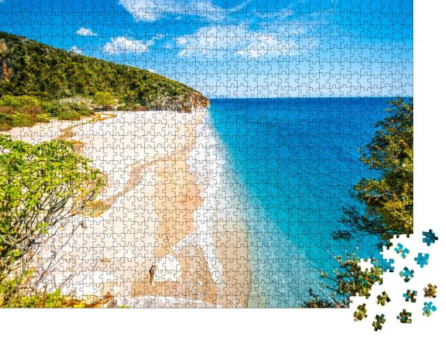 """Puzzle 1000 Teile """"Gjipe Strand in Albanien"""""""