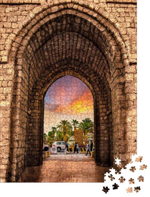 """Puzzle 1000 Teile """"Makkah-Tor in der Stadt Jeddah"""""""