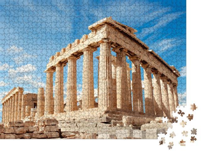 """Puzzle 1000 Teile """"Parthenon-Tempel an einem hellen Tag, Akropolis, Athen, Griechenland"""""""
