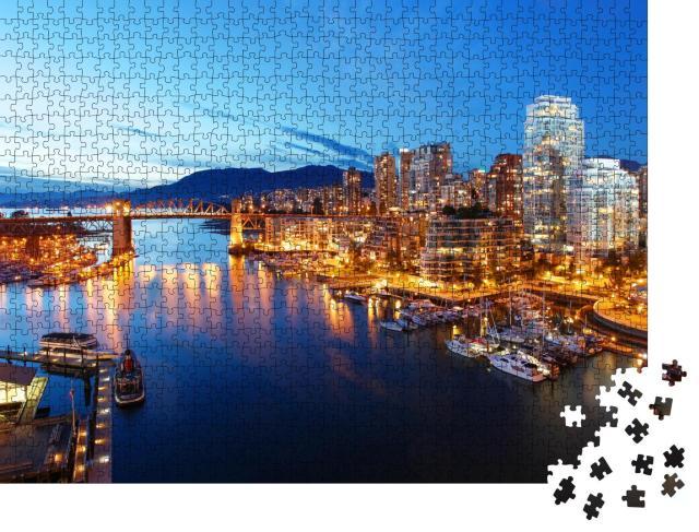 """Puzzle 1000 Teile """"Die Stadt Vancouver in Kanada"""""""