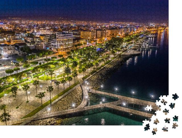 """Puzzle 1000 Teile """"Promenade von Limassol bei Nacht, Zypern"""""""