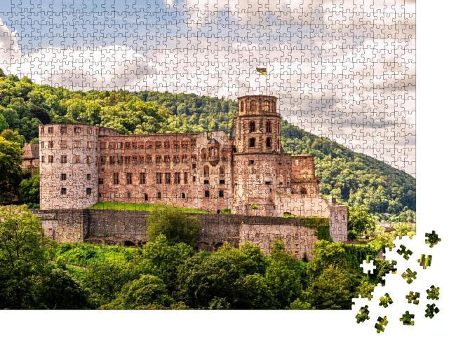 """Puzzle 1000 Teile """"Majestätisches Heidelberger Schloss"""""""