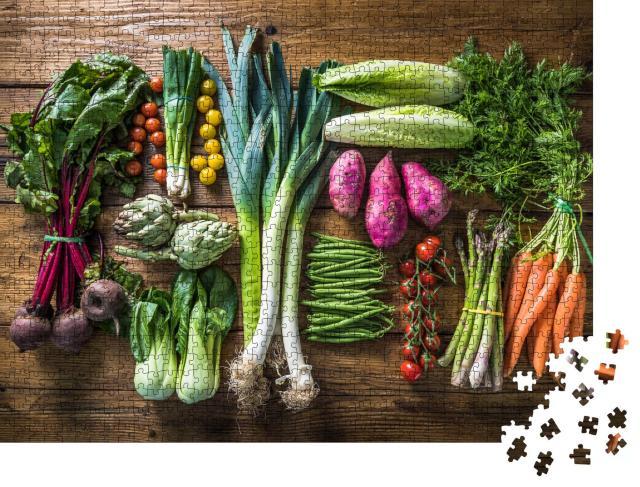 """Puzzle 1000 Teile """"Frisches Gemüse vom lokalen Markt"""""""