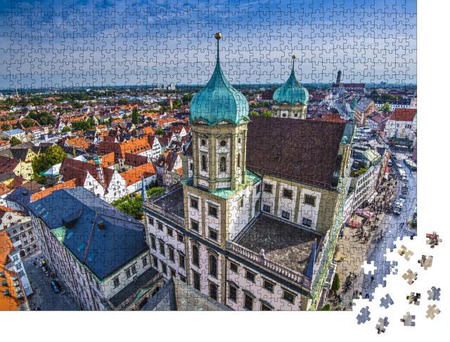 """Puzzle 1000 Teile """"Augsburg Deutschland altes Stadtbild."""""""