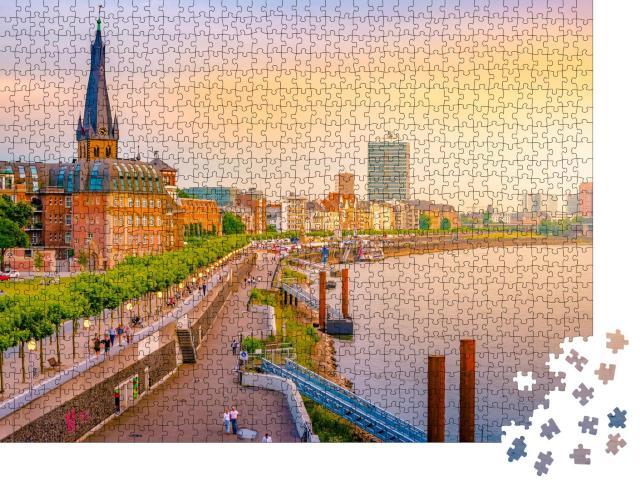 """Puzzle 1000 Teile """"Düsseldorf am Rhein, Deutschland"""""""