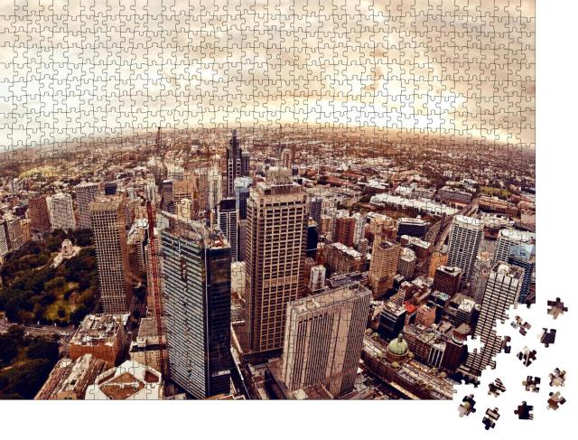 """Puzzle 1000 Teile """"Sydney im Sonnenuntergang, Australien"""""""