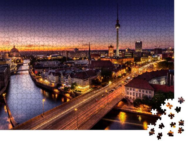 """Puzzle 1000 Teile """"Berlin kurz nach Sonnenuntergang, Deutschand"""""""