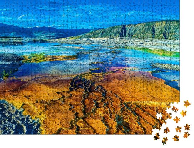 "Puzzle 1000 Teile ""Eindrucksvolle Wasserstelle: Yellowstone-Nationalpark, Mammoth Hot Springs"""