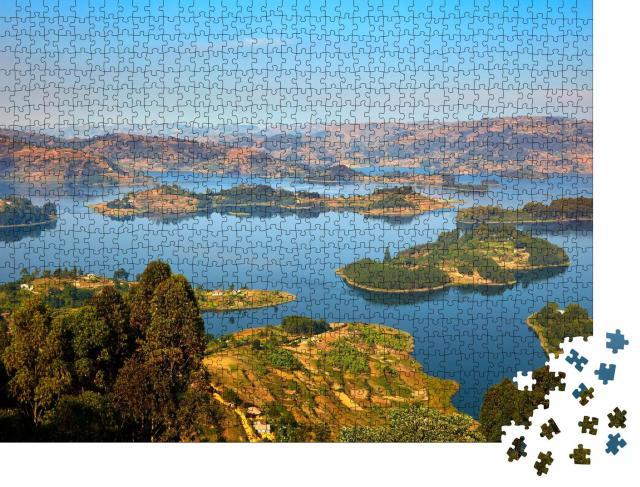 """Puzzle 1000 Teile """"Bunyonyi-See, Uganda"""""""