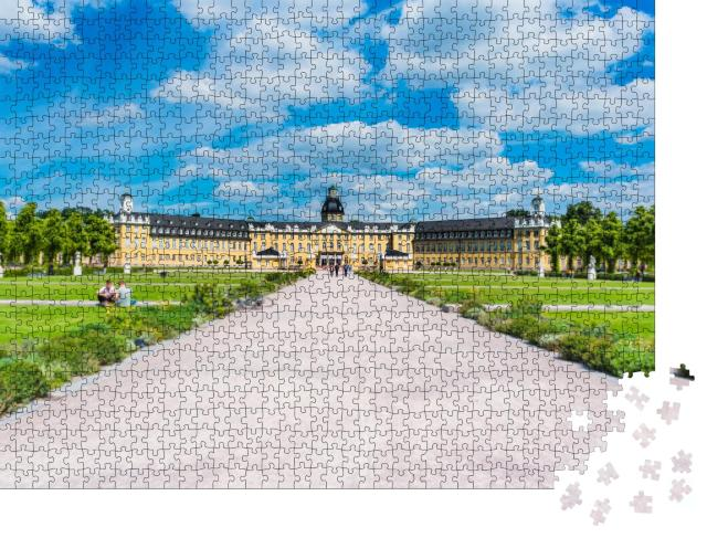 """Puzzle 1000 Teile """"Schloss in Karlsruhe, Deutschland"""""""