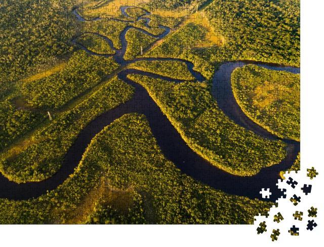 """Puzzle 1000 Teile """"Vogelperspektive vom Amazona-Regenwald in Brasilien"""""""