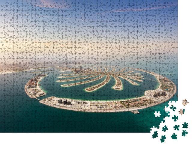 """Puzzle 1000 Teile """"Luftaufnahme: künstliche Palmeninsel, Dubai, Vereinigte Arabische Emirate"""""""
